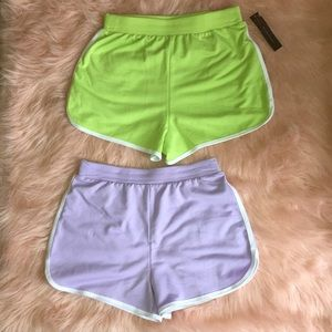 2 pack Running Shorts 💚 💜